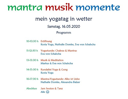 Mantra Musik Momente – Mein Yogatag in Wetter am 16.05.2020